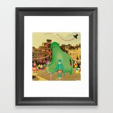 LuCCA è AbiTAtA dai MostRi Framed Art Print