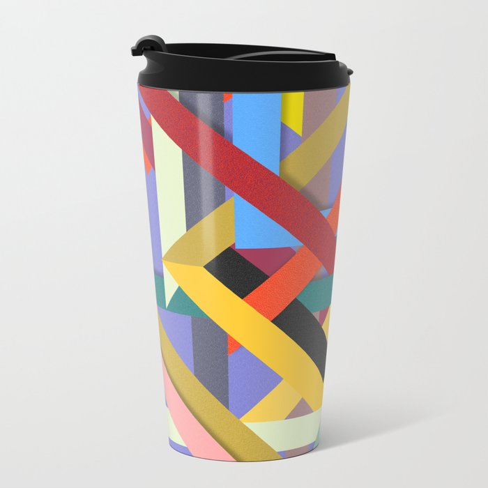 Abstract #225 Corners, Intersections & Dead Ends Metal Travel Mug
