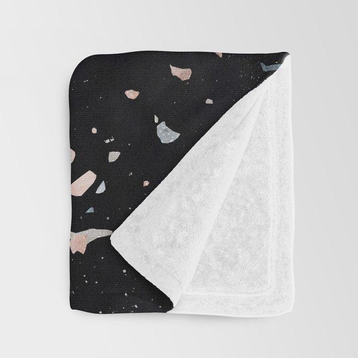 Terrazzo Memphis black galaxy Throw Blanket