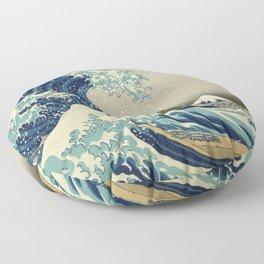 Katsushika Hokusai -The Great Wave off Kanagawa Floor Pillow