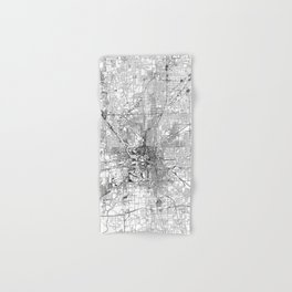 Indianapolis White Map Hand & Bath Towel