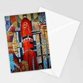Spaceships Will Cross The Sky Stationery Cards