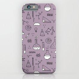 Back to school science physics math class student laboratorium mauve purple iPhone Case