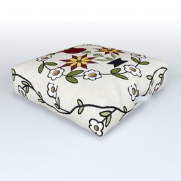 Dutch Country Floral Outdoor Floor Cushion