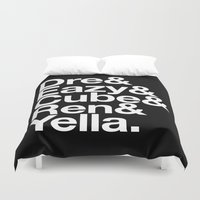 helvetica Duvet Covers featuring Straight Outta Helvetica by Mike D.