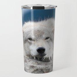 Sleepy Wolf Travel Mug