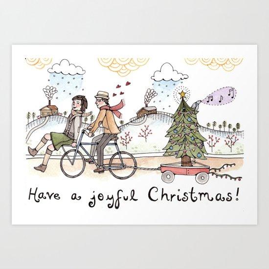 Joyful Christmas Art Print
