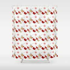 Cute birds pattern Shower Curtain