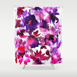 Sara Floral Pink Shower Curtain