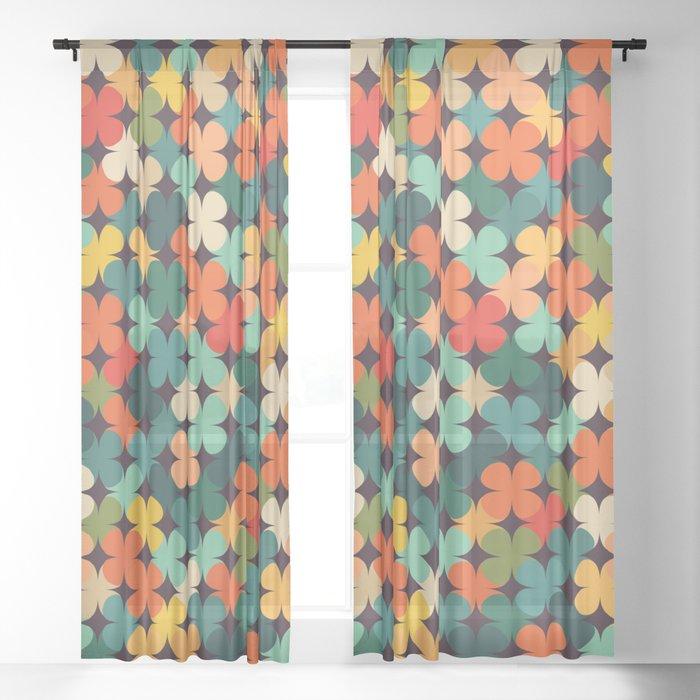 Lucky Clover Sheer Curtain