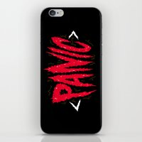 panic at the disco iPhone & iPod Skins featuring PANIC by Chris Piascik