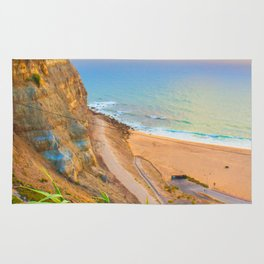 cliffs ericeira surf Rug
