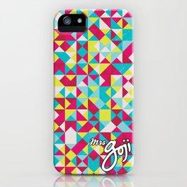 goji triangles iPhone Case