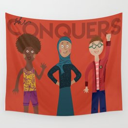 she conquers. Wall Tapestry