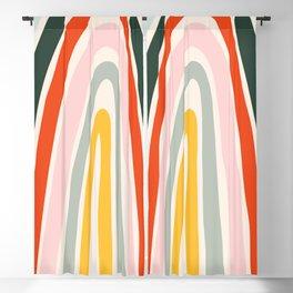 70s Vintage Rainbow Blackout Curtain