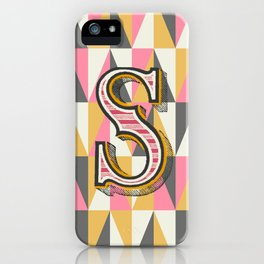 Letter S iPhone Case