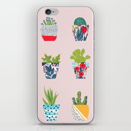 Funny cacti illustration iPhone Skin