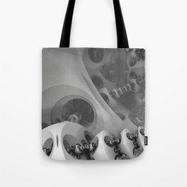 Futuristic 3D Sci-fi Fractal Tote Bag
