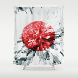 Japanese Flag Extrude Shower Curtain