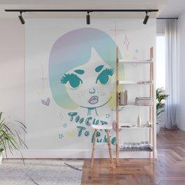 Too cute to puke Wall Mural