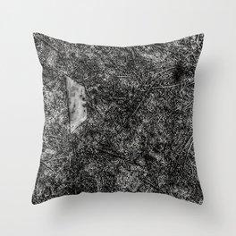 Razor Blade Found Object (Paint Daubs) Throw Pillow