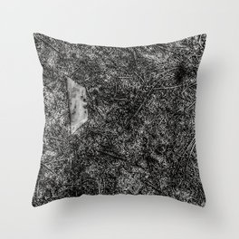 Razor Blade Found Object (Paint Daubs) Throw Pillow