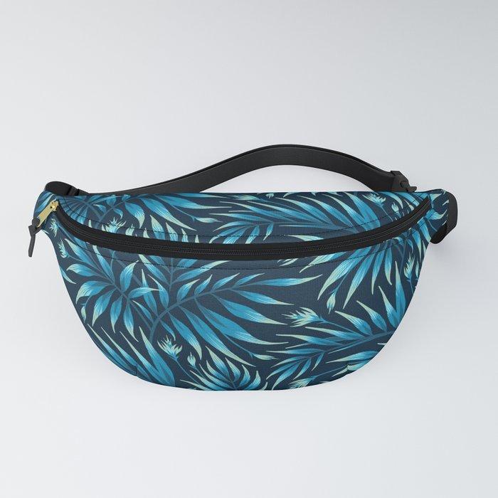 Waikiki Palm - Petrol Blue Fanny Pack