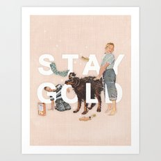 Stay Gold Art Print