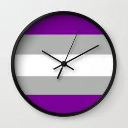 grey-asexual pride flag Wall Clock