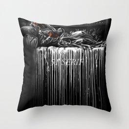 Bleeding 51 Throw Pillow