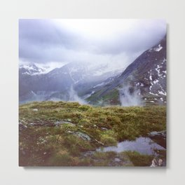 Alps Moss Metal Print