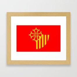 Languedoc Roussillon france country region flag Framed Art Print
