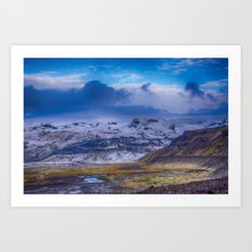 The base of Mýrdalsjökull Glacier Art Print