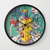 argentina Wall Clocks featuring Rasti / Industria Argentina by Martin Orza
