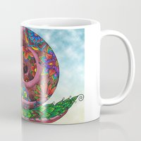 snail Mugs featuring Snail by WelshPixie