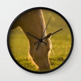 Golden specs of light Wall Clock