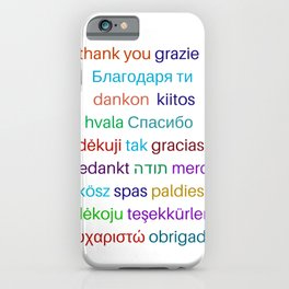 Thank you in different languages iPhone Case
