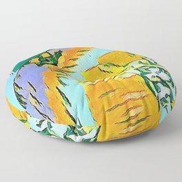 Summer Orange Beach Collection  Floor Pillow