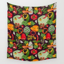 Vegetable Farm Pattern Wall Tapestry