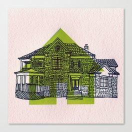Letterpress Houses 1 Canvas Print