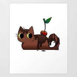 Chocolate Tabby Art Print