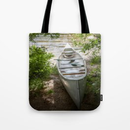 Canoe by the Lake Tote Bag