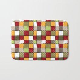 Retro . Squares with polka dots . Bath Mat