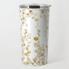 golden string of pearls watercolor Travel Mug