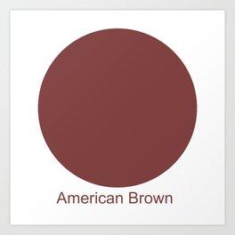 American Brown Art Print