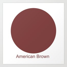 American Brown Art Print