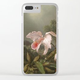 Martin Johnson Heade - Jungle Orchids And Hummingbirds Clear iPhone Case