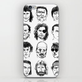 80s Action Stars iPhone Skin