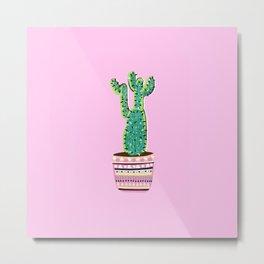 Cactus Love - 2 Metal Print
