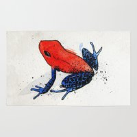 frog Area & Throw Rugs featuring Frog by Jacob Haynes